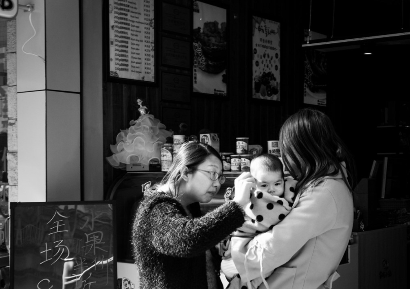 Mother and baby in Hangzhou