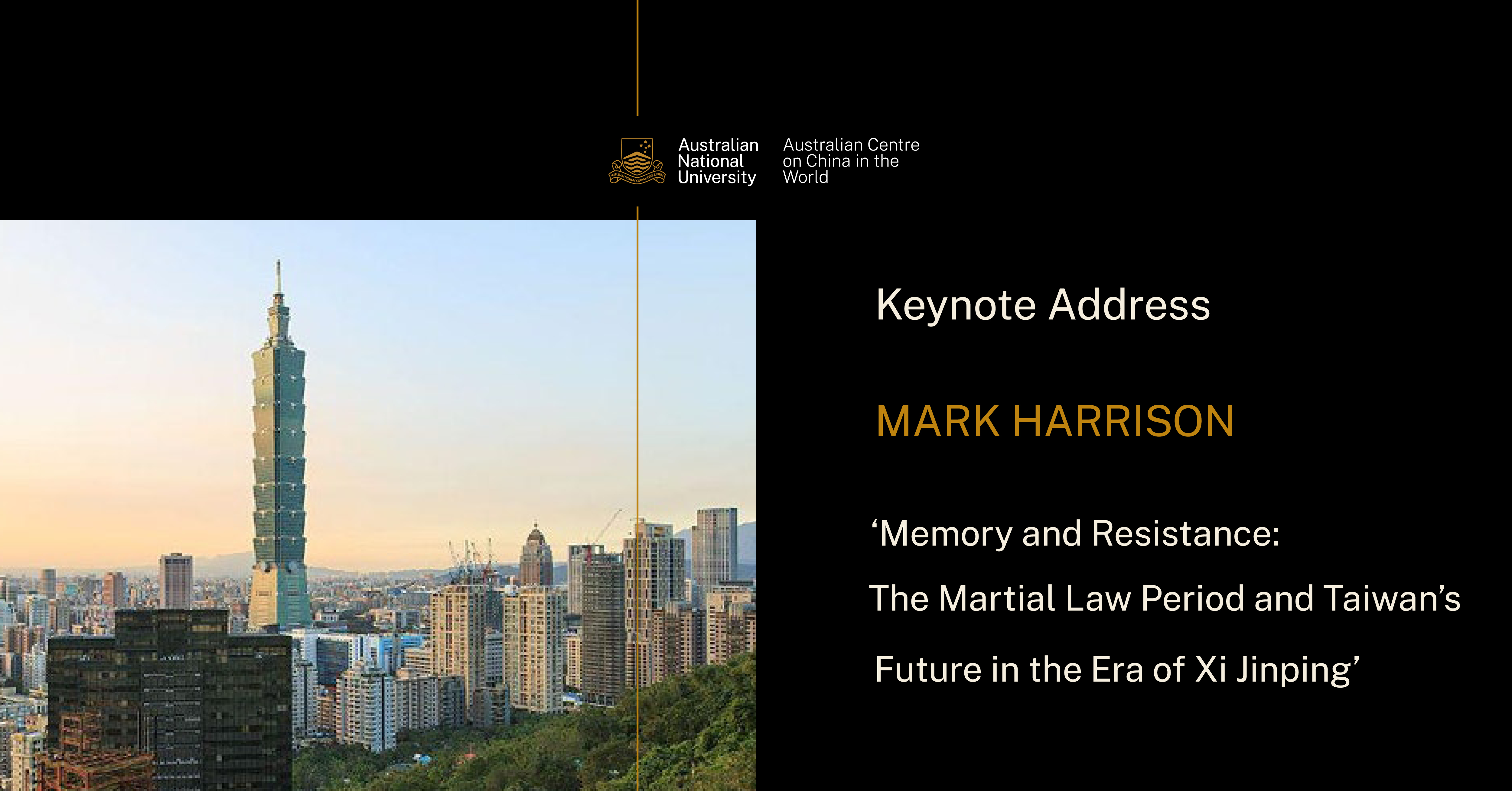 Mark Harrison Keynote Lecture Poster
