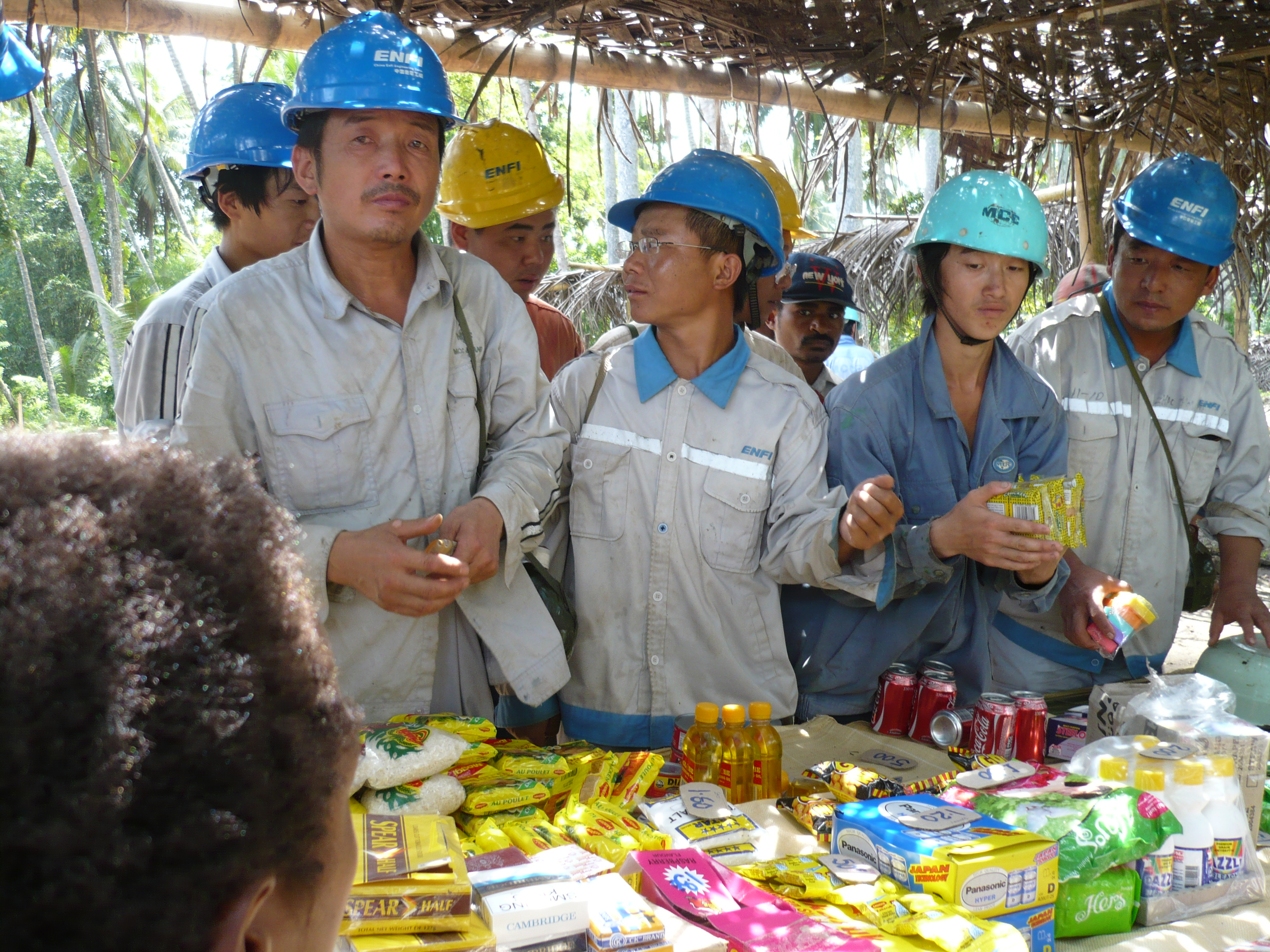 Mine workers, Basamuk refinery site, Papua New Guinea