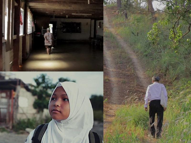 Stills from the short films