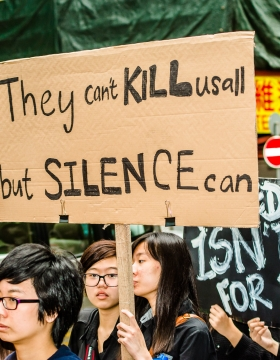 Photo credit: 捍衛新聞自由 Safeguard Press Freedom You can't kill us all!, Leung Ching Yau Alex/Flickr.