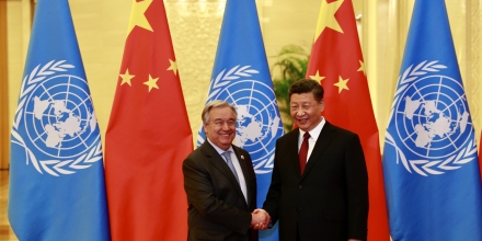 General António Guterres and President Xi Jinping