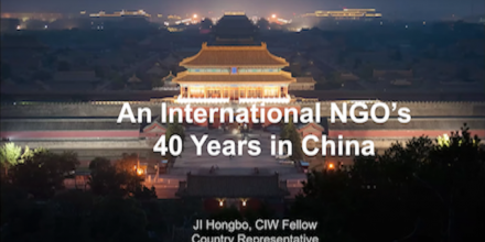 An International NGO's 40 years in China