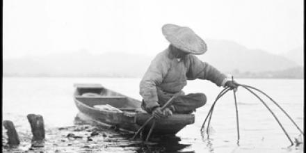 Fisherman on punt