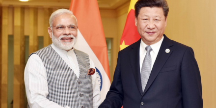 PM Modi with Chinese President Xi Jinping