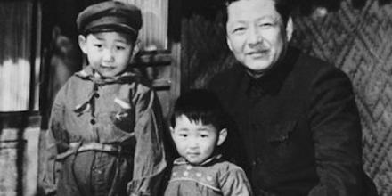 Xi Jinping, Xi Yuanping and Xi Zhongxun in 1958