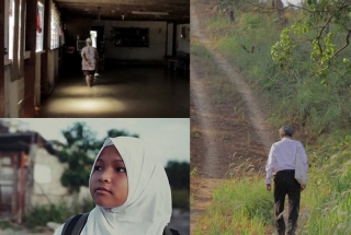 Stills from the short films