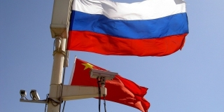 Russia and China Flag