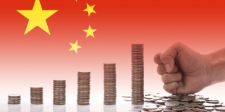 The Chinese economy depicted in coins