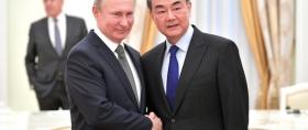 Vladimir Putin with Wang Yi